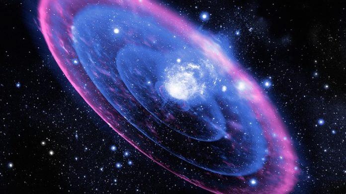 Uzayda güçlü bir patlama